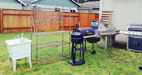 backyard bbq arlington letgo full outdoor bbq set up in arlington wa