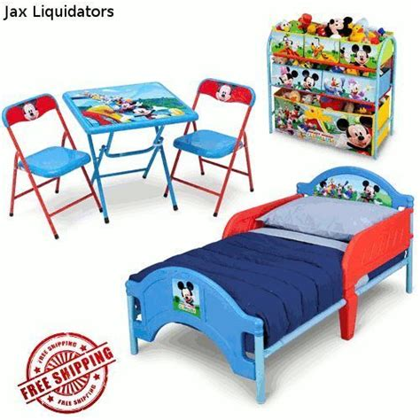 Toddler Bed Bundle Set Disney Mickey Mouse Clubhouse Toddler Bed Multi Bin Storage Table Bundle Set Delta Rylan