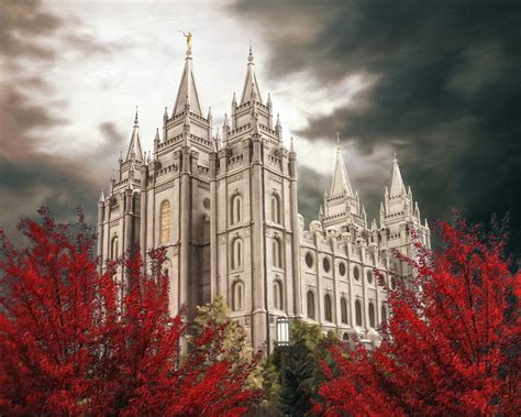 salt lake temple a light in the cropped painting