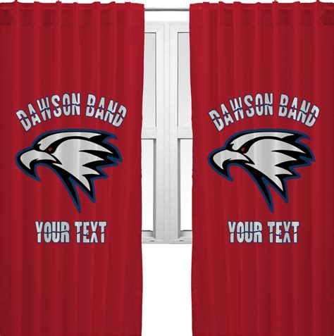 logo curtains dawson eagles band logo curtains 40 quot x84 quot panels lined