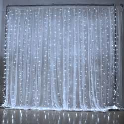 led curtain light 3mx3m 300 led 8 mode blue white for