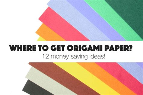 Origami Paper Where To Buy - where to get free origami paper around your house