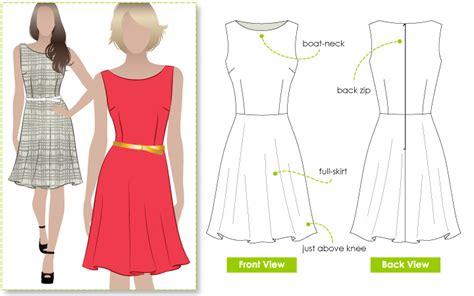 boat neck dress free pattern stylearc anthea dress sewing pattern
