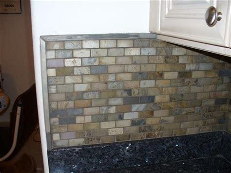 slate backsplash in kitchen slate kitchen backsplash advice for a newbie ceramic