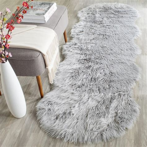 Safavieh Faux Sheepskin Rug Rug Fss118a Faux Sheep Skin Area Rugs By Safavieh