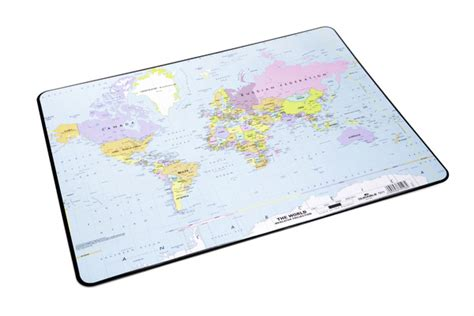 World Map Desk Pad by Desk Pad With World Map Durable