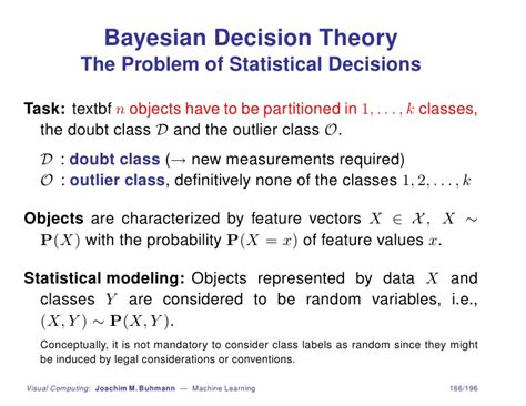 pattern recognition bayesian decision theory machine learning