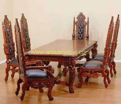 Makan Meja Di Raja Kuring set meja makan raja anisa mebel jepara pilihan