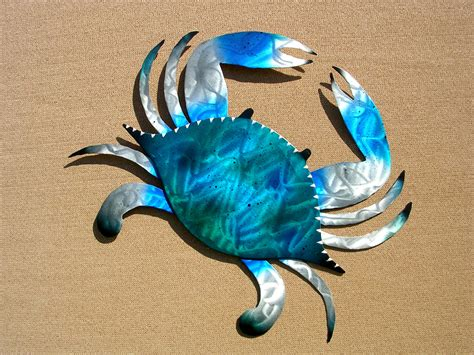 crab decorations for home decorating ideas contemporary blue crab wall paint