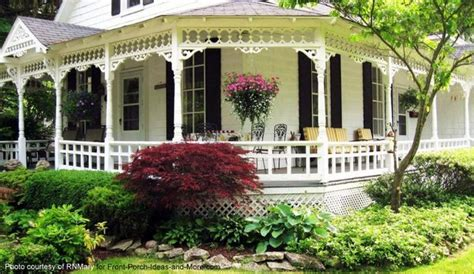 American Craftsman Ranch Country Style Porches Wrap Around Porch Ideas Country
