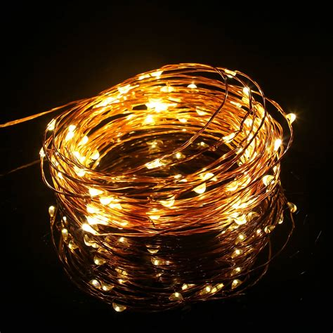 battery operated string lights with timer 100 white outdoor led battery operated string lights