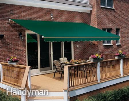 shade awnings for patios how to shade your deck or patio the family handyman