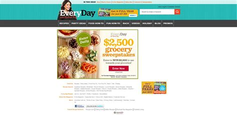 Sweepstakes Legal - every day with rachael ray magazine 2 500 grocery sweepstakes