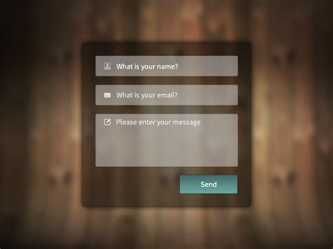 contact card template css contact form with free psd and html css code by luis m