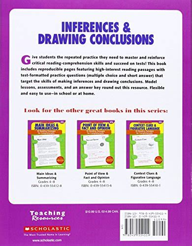 picture books for drawing conclusions 35 reading passages for comprehension inferences