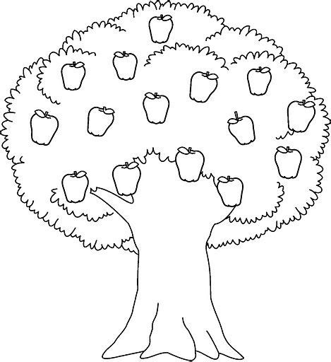 coloring page of a apple tree free printable apple tree coloring pages 3 coloring