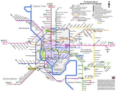 bangkok map bangkok rail transit network map bangkok thailand mappery