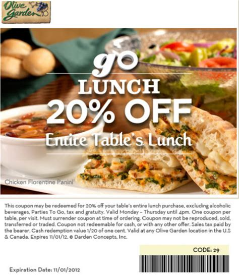 Olive Garden 2 For 20 by Barbara S Beat Save 20 Lunch At Olive Garden 11 1