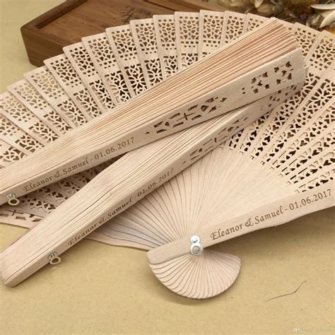 personalized folding fans for weddings 2018 personalized sandalwood folding fans with