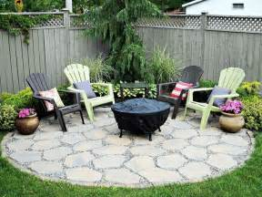 Patios With Fire Pits by Fire Pit Patio In The Corner Back Gardens And