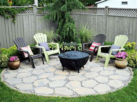 Small Garden Pit Pit Patio In The Corner Back Gardens And