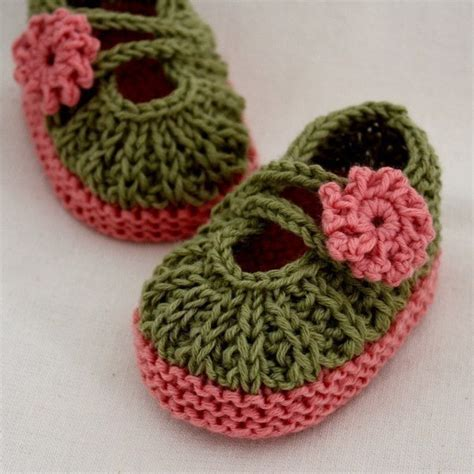 knitted baby booties size newborn to six months knitting pattern pdf file baby booties 0 6 6 12