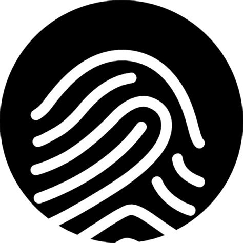 What Shows Up On A Fingerprint Background Check Fingerprint White Outline On Black Background Icons Free