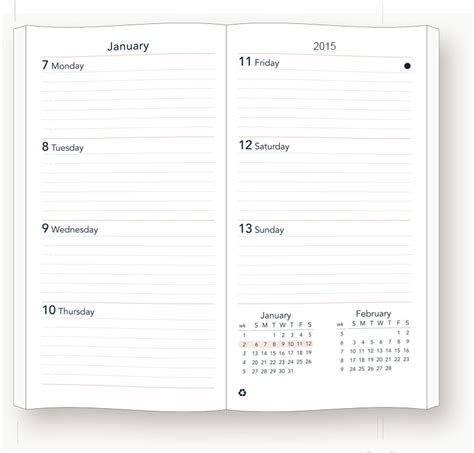 Sun Graphix Daily Desk Planner by 2019sun Graphix Preference Collection Sewn Planner Inserts