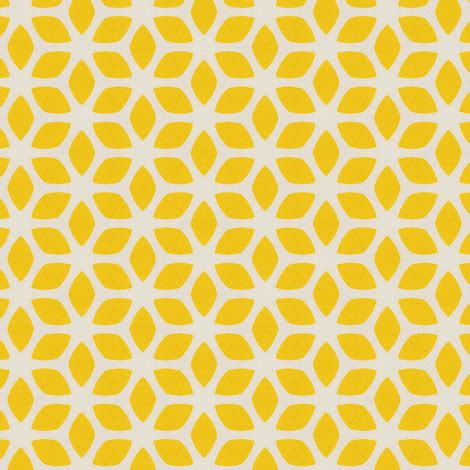 pattern yellow free butter yellow geometric flowers yellow gold design