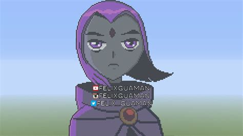Raven Teen Titans Minecraft Pixel Art by FelixGuaman on