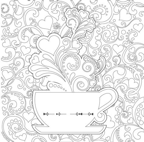 coloring pages for adults coffee tea cup adult colouring coffee tea cakes pinterest