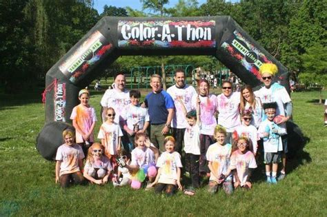 color run nj nutley color run brings hundreds of families out to