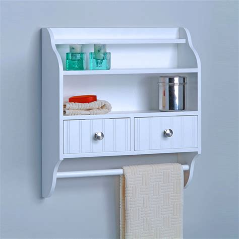 Bathroom Wall Shelves With Towel Bar Bathroom Accessories Shop Bathroom Furniture Bath Fixtures And Plumbing Kitchensource