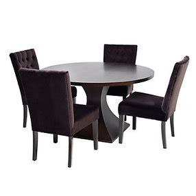 z gallerie chic combo scallop dining table 4 lola