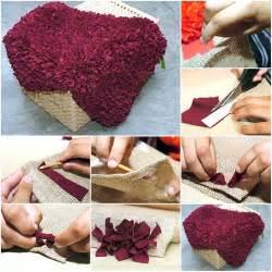 how to make scrap fabric rug step by step diy tutorial