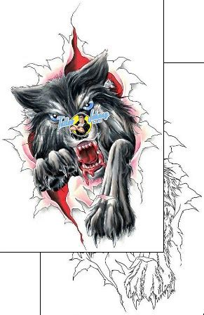 wolf creek tattoo wolf design ccf 00950 tattoojohnny