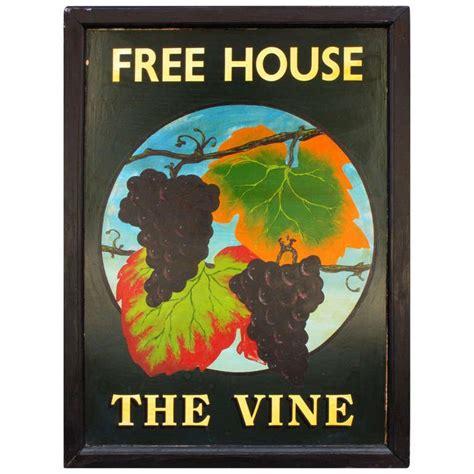 English Pub Sign   The Vine (Free House) at 1stdibs