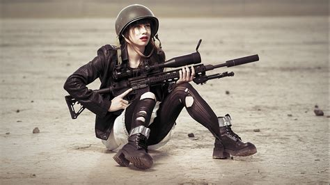 wallpaper girl and gun free girls with guns wallpaper download onehdwallpapers com