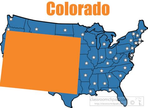 colorado united states map us state maps clipart colorado map united states clipart