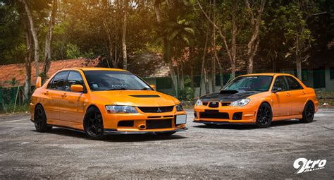 subaru evo 9 subaru wrx sti mitsubishi evolution 9 the orange