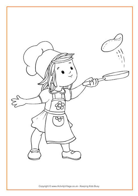 coloring pages of pan cake flipping pancakes colouring page party ideas pinterest