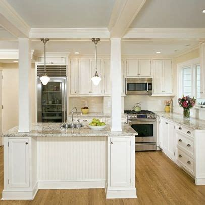 kitchen islands with columns kitchen island with columns load bearing column island with columns jen falcone