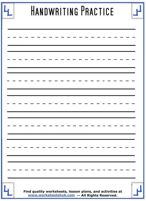 Printable Handwriting Practice Sheets
