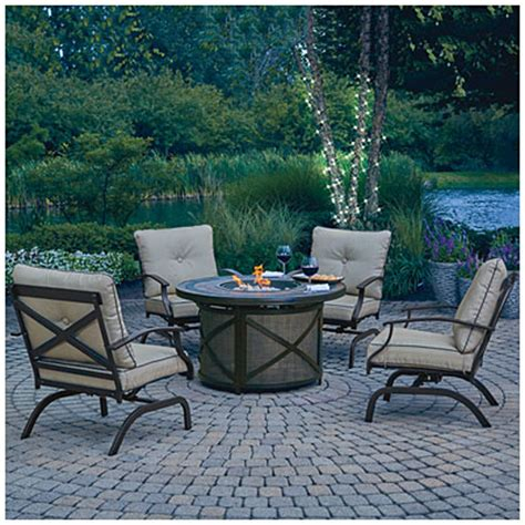 wilson and fisher patio furniture wilson fisher 174 santa fe 5 table chat set big lots