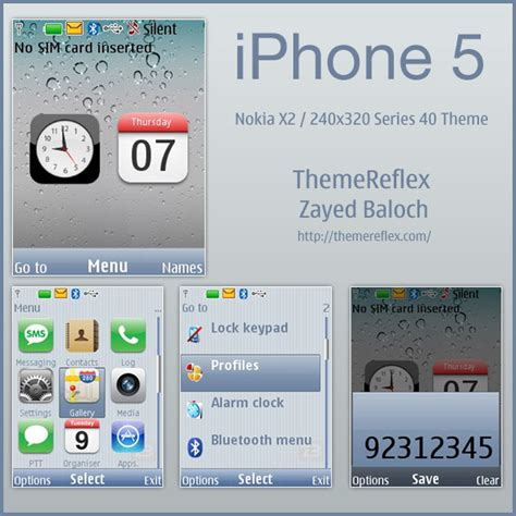 iphone themes nokia iphone 5 theme for nokia x2 240 215 320 themereflex