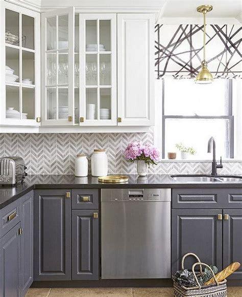 best 25 whitewash brick backsplash ideas on pinterest painted indoor white and grey kitchen cabinets with gold hardware