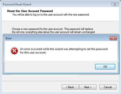 windows vista password reset disk error window 10 password reset disk error windows 10 forums