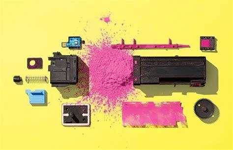 inside laser printer toner wax static lots of plastic