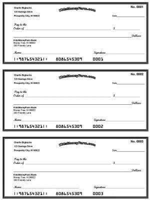 free printable check templates free printable check templates great for teaching