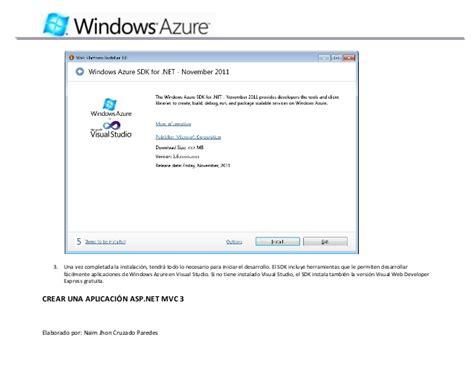 tutorial visual web developer 2010 express tutorial windows azure con visual studio 2010